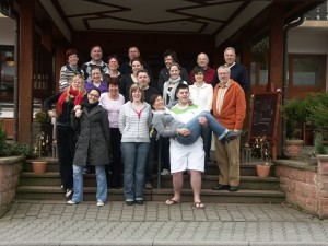 Ein Teil der Aktiven der 1. G.C.G. während ihren Beratungen im Rahmen der Klausur in Güttersbach im Odenwald.