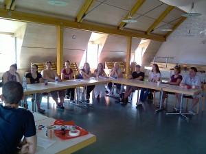 Die Aktiven der 1. G.C.G. während ihrer Beratungen im Rahmen der Klausur im Bürgerhaus am Kreuz.